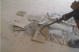 Remove tiles on screed