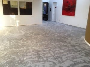 Work complete, clean smooth floor and no dust